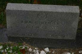 Ada C Rogers (McCraner) (1902 - 1995) - Genealogy