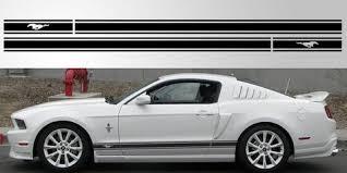 Mustang Gt Logo Triple Stripe Vinyl Decal Stripe Garage