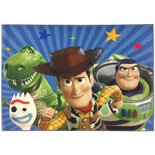 Jay Franco Disney Pixar Toy Story The Gang Kids Room Rug Large Home Area Rug Measures 4 X 5 Feet Features Woody Buzz Lightyea Walmart Com Walmart Com