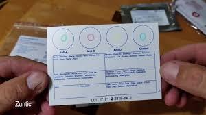 blood typing test using eldoncard