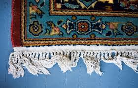 clean the fringe on oriental rugs