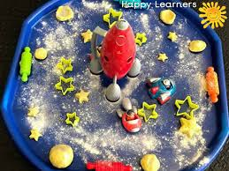 Sparkling Space Themed Tuff Tray for Toddlers-EYFS Children (With ...