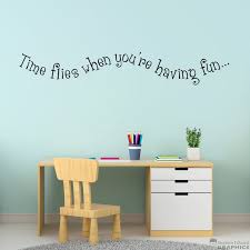 Time Flies When You Re Having Fun Decal Playroom Decor Etsy
