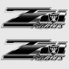 Raiders Z71 Truck Decals 4x4 Chevy Silverado Oakland Nfl Sticker