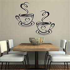 Amazon Com Dds5391 Home Kitchen Restaurant Cafe Tea Wall Sticker Coffee Cups Sticker Wall Decor Home Kitchen