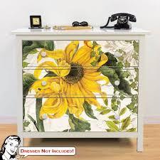 Yellow Daisy Ikea Hemnes Dresser Graphic Decal Hack At Retro Planet