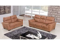 dark tan genuine leather sofa set