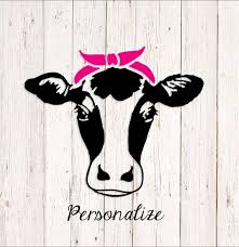 Cow Decal Cow Sticker Cow Car Decal Cow Head Decal Heifer Etsy