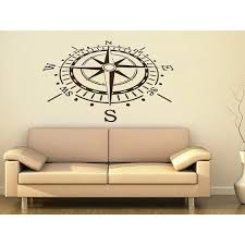 Shop Compass Rose Nautical Vinyl Sticker Navigation Home Interior Sticker Decal Size 22x30 Color Black Free Shipping On Orders Over 45 Overstock 14028701