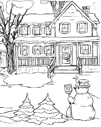 1001 Kleurplaten Seizoen Winter Kleurplaat Winter Sneeuw
