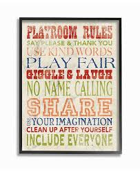 Stupell Industries The Kids Room Playroom Rules In Four Colors Framed Giclee Art 11 X 14 Reviews All Wall Decor Home Decor Macy S