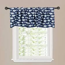 H Versailtex Thermal Insulated Curtain Valances Rod Pocket Window Treatment Valance For Kids Boys Room Kitchen Bathroom Sea Lovely Whales Pattern White And Navy 51 W X 16 L Wish