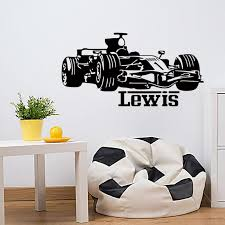 Boy Racing Car Vinyl Wall Sticker Home Decor Personalized Baby Names Wall Stickers For Boys Rooms Diy Wall Decals Vinyl Wall Decor Decal From Langru1002 11 46 Dhgate Com