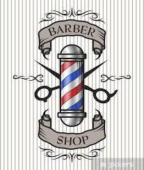 Barber Shop Emblem Wall Mural Pixers We Live To Change In 2020 Barber Shop Pole Barber Shop Barber Pole