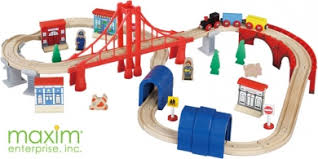 60 pcs wooden train set thomas and