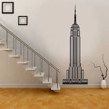 Modern Home Decor New York City Empire State Building Wall Decal Vinyl Living Room Decoration Stickers Removable Wallpaper Ct11 Wall Stickers Aliexpress