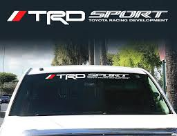 Product Toyota Trd Windshield Off Road Racing Development 4x4 Decal Sticker Vinyl