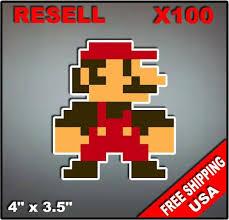 100pc Bulk Nintendo Nes 8 Bit Super Mario Vinyl Decal Stickers Reseller Lot Ebay Ebay