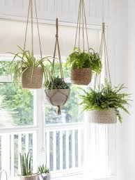 our array of hanging pots from woven