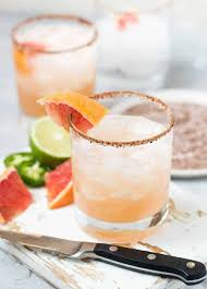 y gfruit margaritas garnish