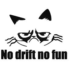 Grumpy Cat No Drift Jdm Japanese Decal Sticker