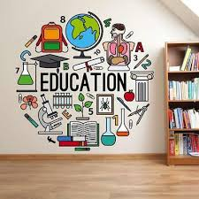 Education Wall Stickers Vinyl Decal Mural Home Decor Removable Ebay