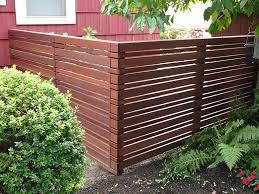 Modern Horizontal Fencing J W Lumber