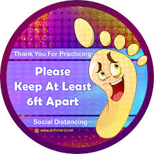 Floor Vinyl Sixfootart Decal For Safe Distancing Offered At Handwarmers
