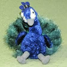 "AURORA PERRY PEACOCK 12"" PLUSH FLOPSIES STUFFED ANIMAL BLUE GREEN PLUSH  BIRD | eBay"