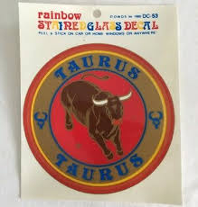 Taurus Astrological Sign Stained Glass Decal Vintage Window Car Bull Sticker Ebay