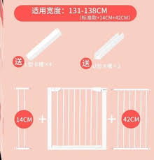 Hot Deal 4ef9d Infant And Child Safety Gate Staircase Protective Fence Indoor Dog Isolation Door Pet Fence Pole Free Punching Cicig Co