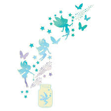 Wall Pops Fairy Dust Glow In The Dark Wall Art Kit Wall Decals Wpk3018 The Home Depot