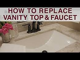 replace vanity top and faucet diy