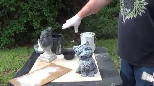 how to properly paint concrete statuary