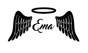 Personalized Angel Wings Halo Any Name Vinyl Wall Sticker Decal Free Shipping Sticker Decal Vinyl Wallvinyl Wall Stickers Aliexpress