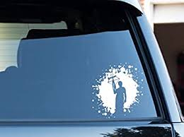Amazon Com The Walking Dead Daryl Dixon Crossbow Blood Splatter Decal Sticker Automotive