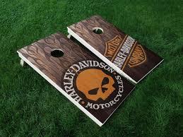 Vinyl Wraps Cornhole Board Decals Harley Davidson 02 Motorcycle Game Stickers Cornhole Harley Davidson Crafts Cornhole Board Decals