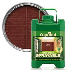 Cuprinol One Coat Sprayable Autumn Brown Wood Paint 5l Departments Diy At B Q