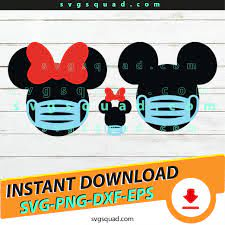Disney Mickey Mouse Wears Face Mask 2020 Quarantined SVG PNG EPS DXF  Cutting FIle Cricut Silhouette