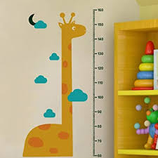 Wowoss 3 Pcs Kids Height Growth Chart Wall Stickers Removable Measurement Wall Decals For Baby Nursery