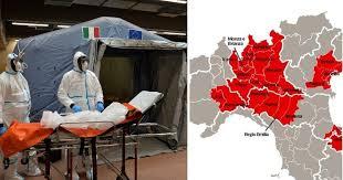 Resultado de imagen de COVID19 italia mapa
