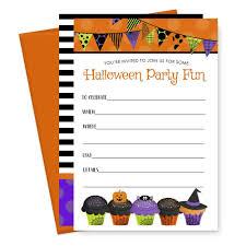 15 Tarjetas De Invitacion Para Fiestas De Halloween Y Sobre