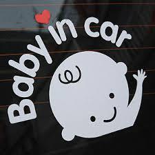 Baby In Car Waving Baby On Board Safety Sign Cute Car Decal Vinyl Sticker Dz 627454105213 Ebay