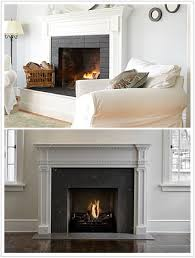 fireplace tiles in blue and gray