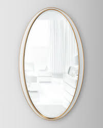 collection oval framed mirror