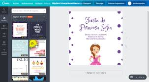 Disena Invitaciones De La Princesa Sofia Gratis Canva