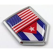 Amazon Com Car Chrome Decals Usa Cuba American Cuban Flag Car Chrome Emblem 3d Decal Sticker Cbshd228 053 Automotive