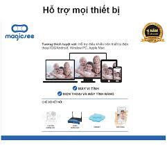 Camera giám sát không dây wifi Magicsee S6300 Plus - Tiếng Việt - Hồng  ngoại quay đêm 20M