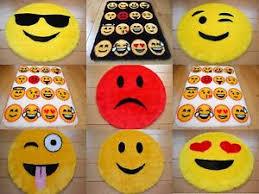 Cool Emoji Smily Face Rugs Fluffy Girls Boys Childrens Bedroom Floor Mats Cheap Ebay