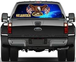 Eagel Usa Flag Military Navy Seabees 2b Rear Window Graphic Decal Truck Suv Ebay
